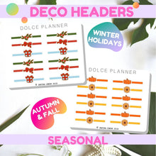 Deco Headers Seasonal for Passion Planners