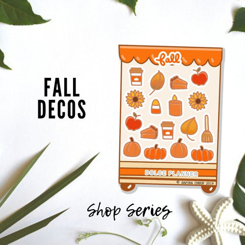 Fall Deco Shop Planner Sticker