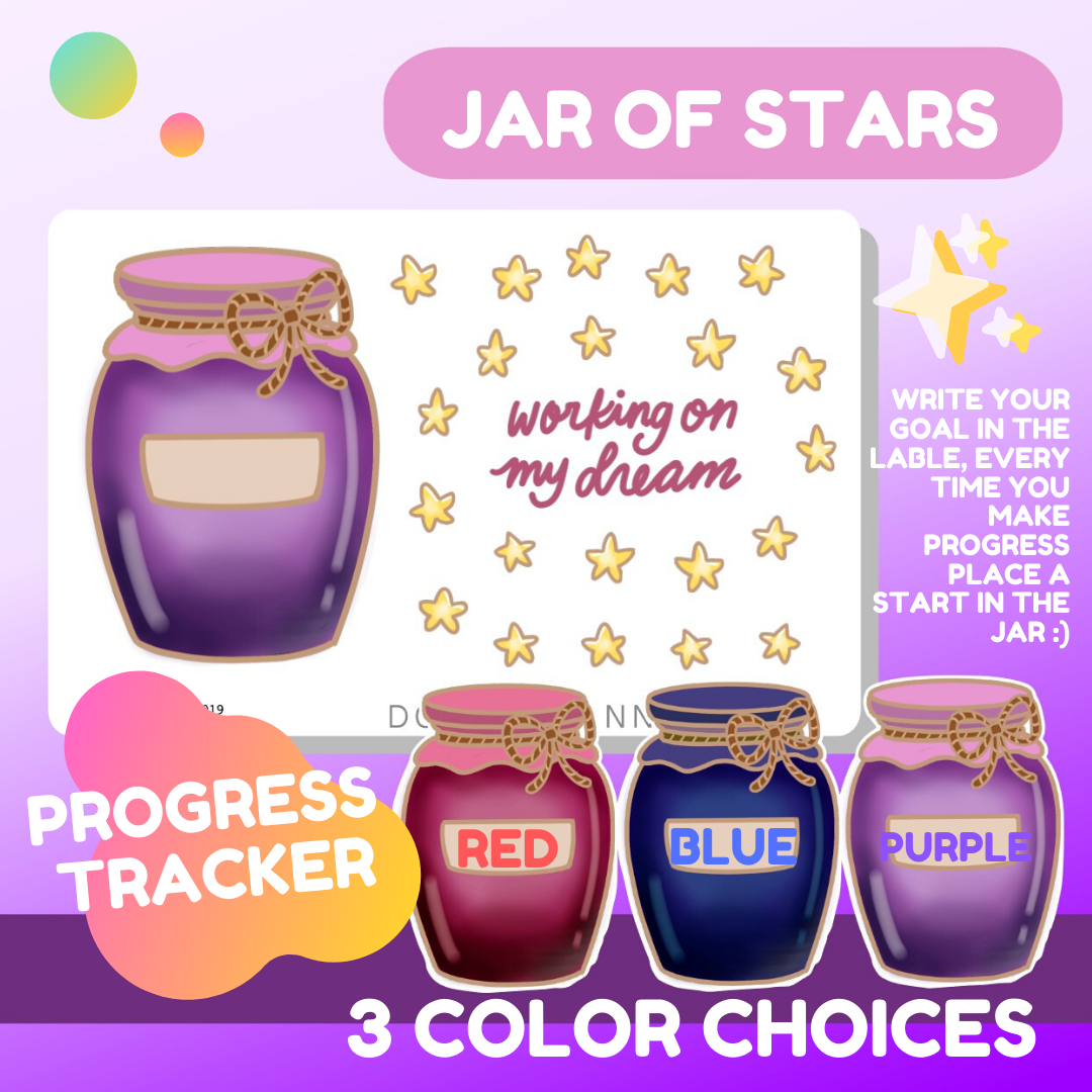 Jar of Stars Progress/Goal Tracker