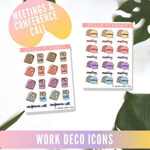 Work decorative icon planner stickers