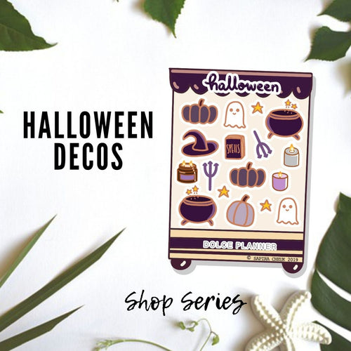 Halloween Deco Shop Planner Sticker