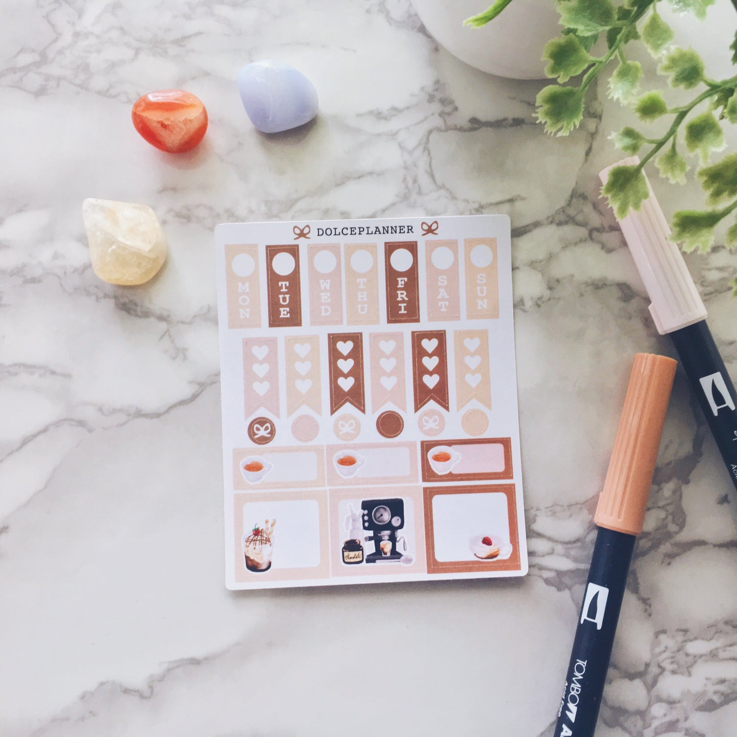 Coffee Lover Hobonichi Weeks Mini Kit Planner Stickers