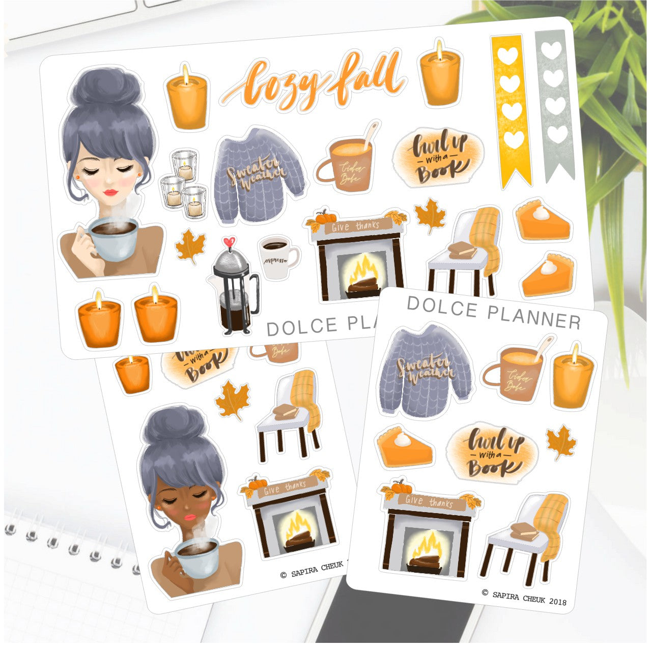 Cozy Fall, thanksgiving Sticker