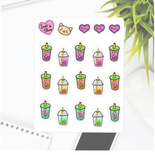 Boba Milk Tea Sapi Planner Stickers