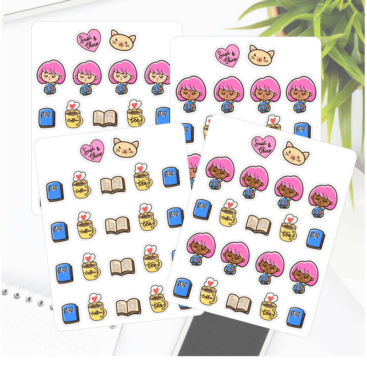 Books and Reading Sapi Planner Stickers