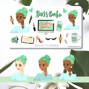 Boss Babe, Hustle, Work Planner Sticker and Mini Kits