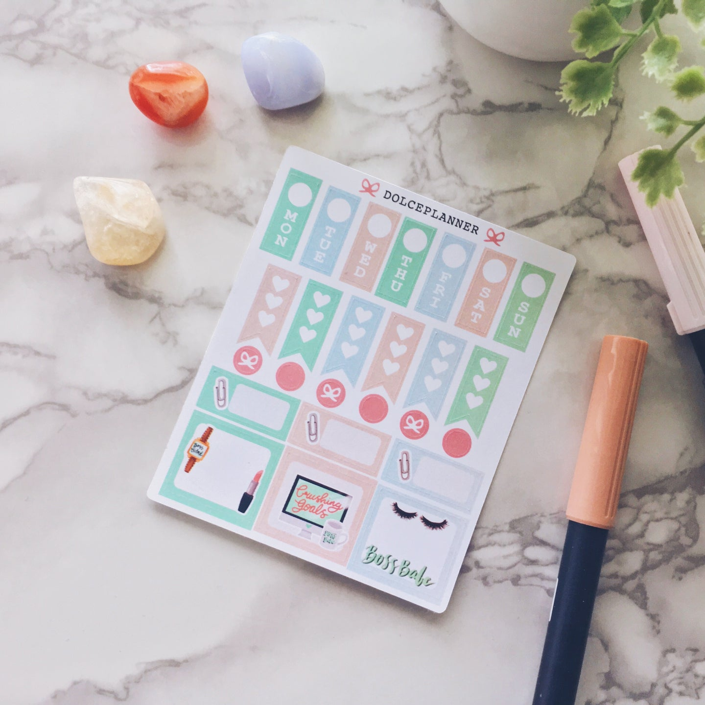 Boss Babe Hobonichi Weeks Mini Kit Planner Stickers