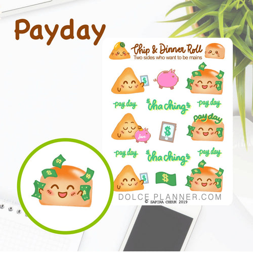 PayDay Chip & DInner Roll Character Planner Sticker