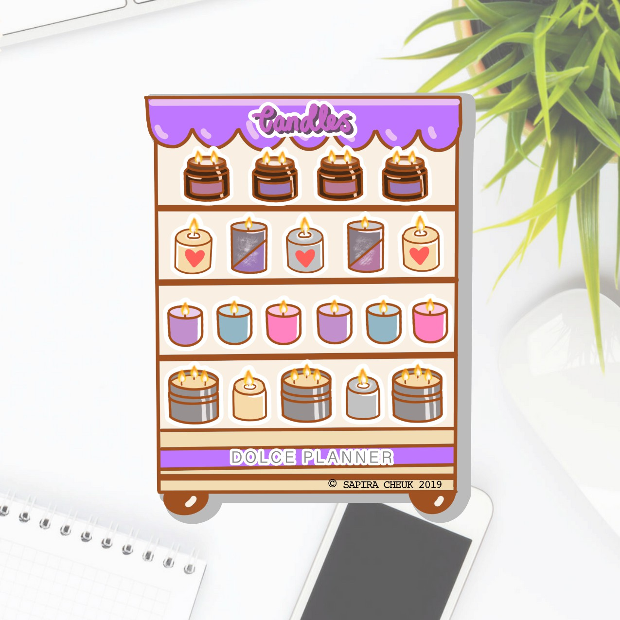 Candle Shop Planner Sticker