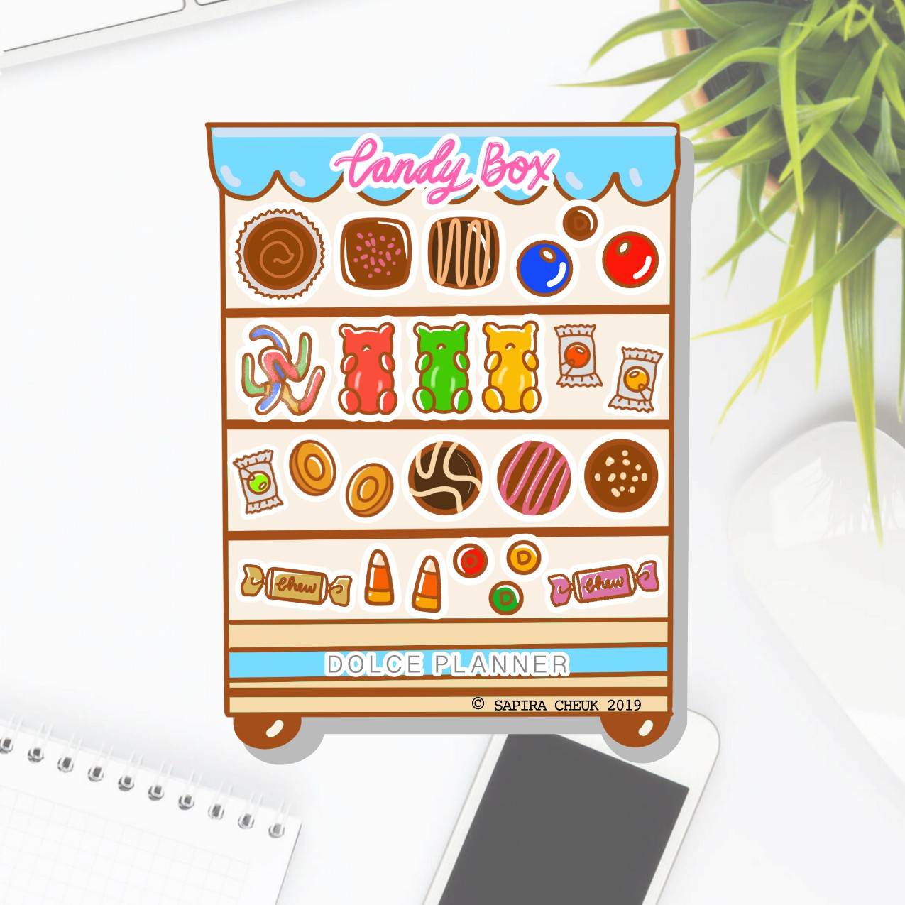 Candy Box Planner Sticker