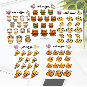 Cat themed deco stickers - ver.1