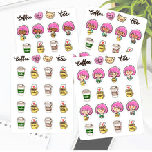 Coffee or Tea Sapi Planner Stickers