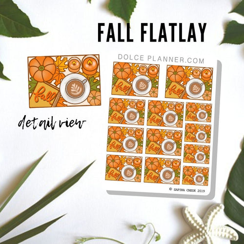 Fall Flat Lay Planner Sticker