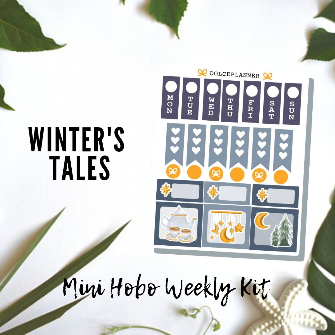Winter's Tale Hobonichi Weeks Mini Kit Planner Stickers