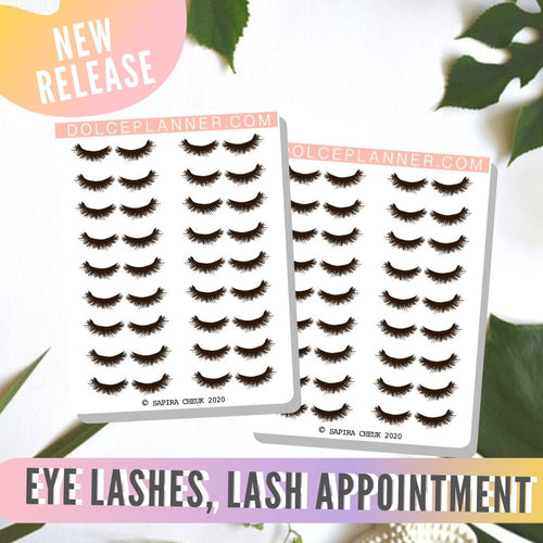 Eye Lashes, Lash Appointment Planner Sticker