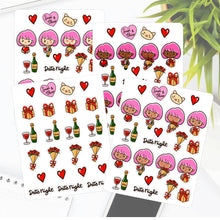 Date Night Valentine Sapi Planner Sticker