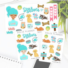 Dog Lover Girl Stickers