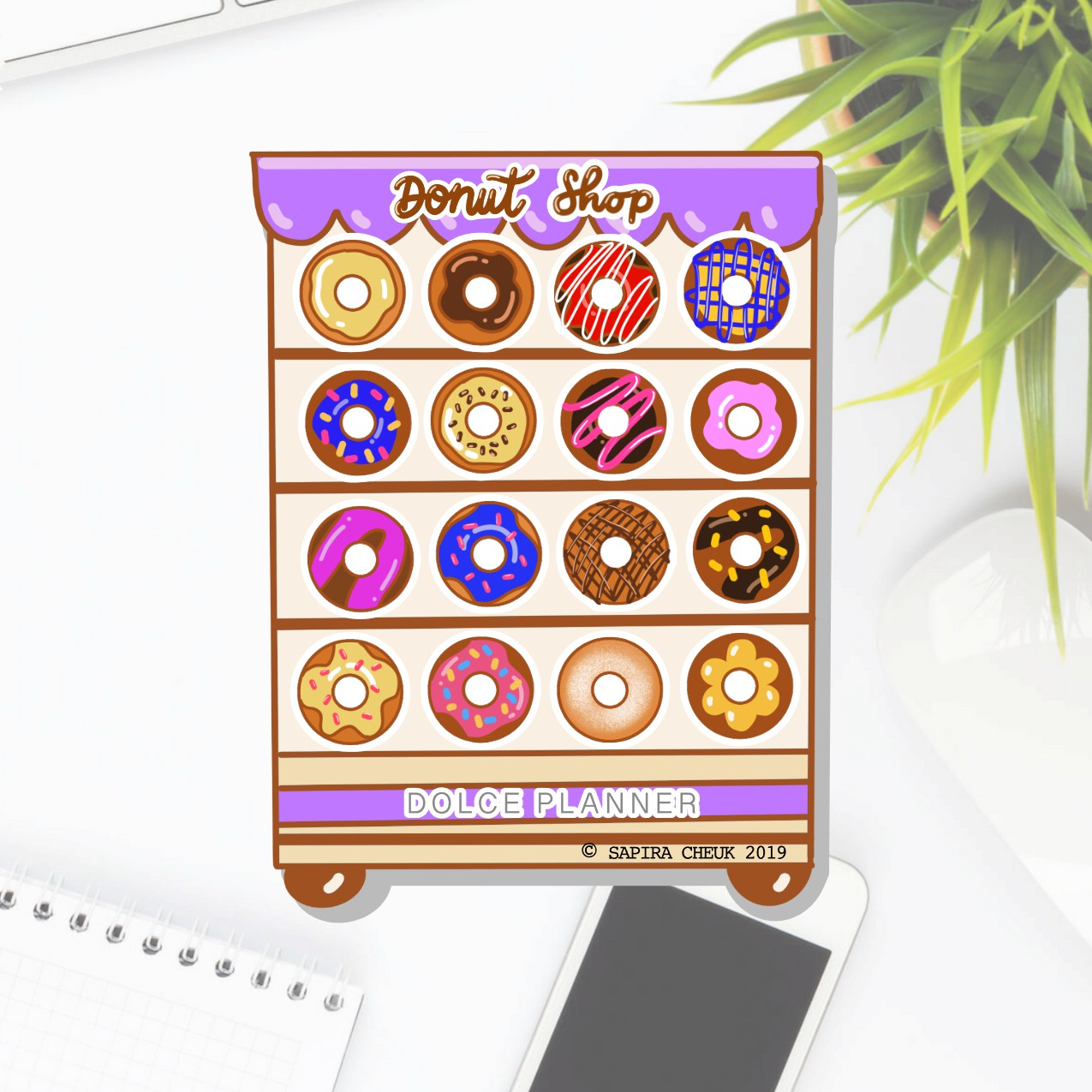 Donut Shop Planner Sticker