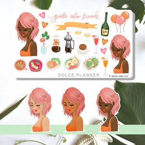 Girls Who Brunch Planner Sticker and Mini Kits