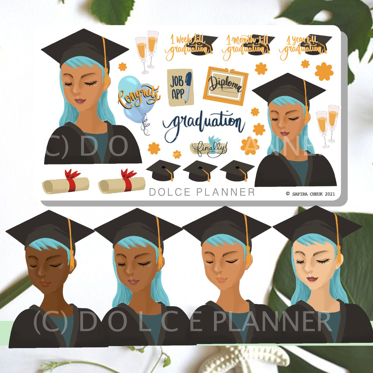 Graduation, Graduate, Planner and Journaling Stickers