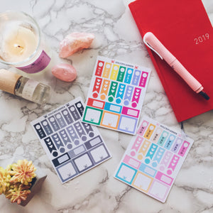Hobonichi Weeks Mini Kits Planner Sticker
