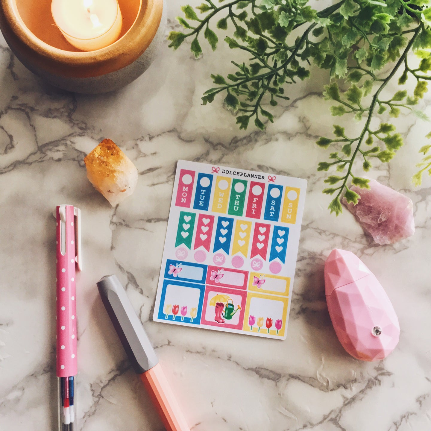 Spring Tulip Hobonichi Weeks Mini Kit Planner Stickers