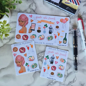 Girls Who Brunch Planner Sticker