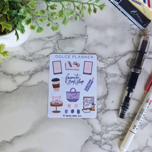 Favorite Book Shop Planner Sticker