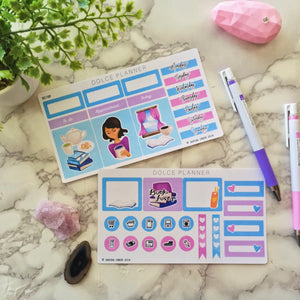 Book Lover, Reading Planner Sticker and Mini Kits