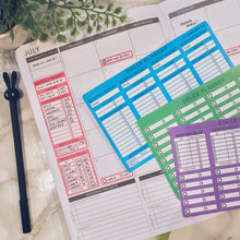 Black and White Monthly Budget Tracking Stickers - Monthly Budget Side Bar, Monthly Bills Tracker, Monthly Bill/Pay Day Reminder