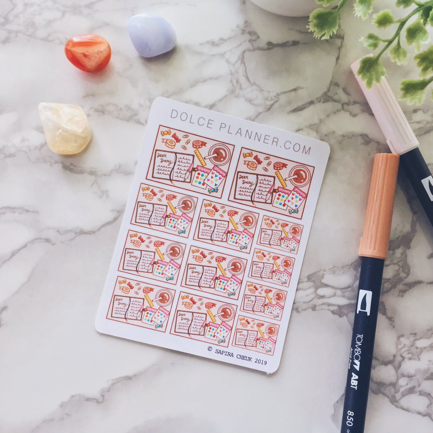 Journaling Flat Lay Planner Sticker