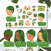 Make My Own Luck, Clover, St. Patrick's Day Planner Stickers and Mini Kit