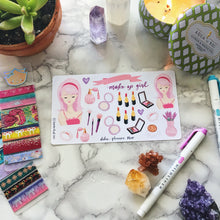 Makeup Girl Planner Sticker
