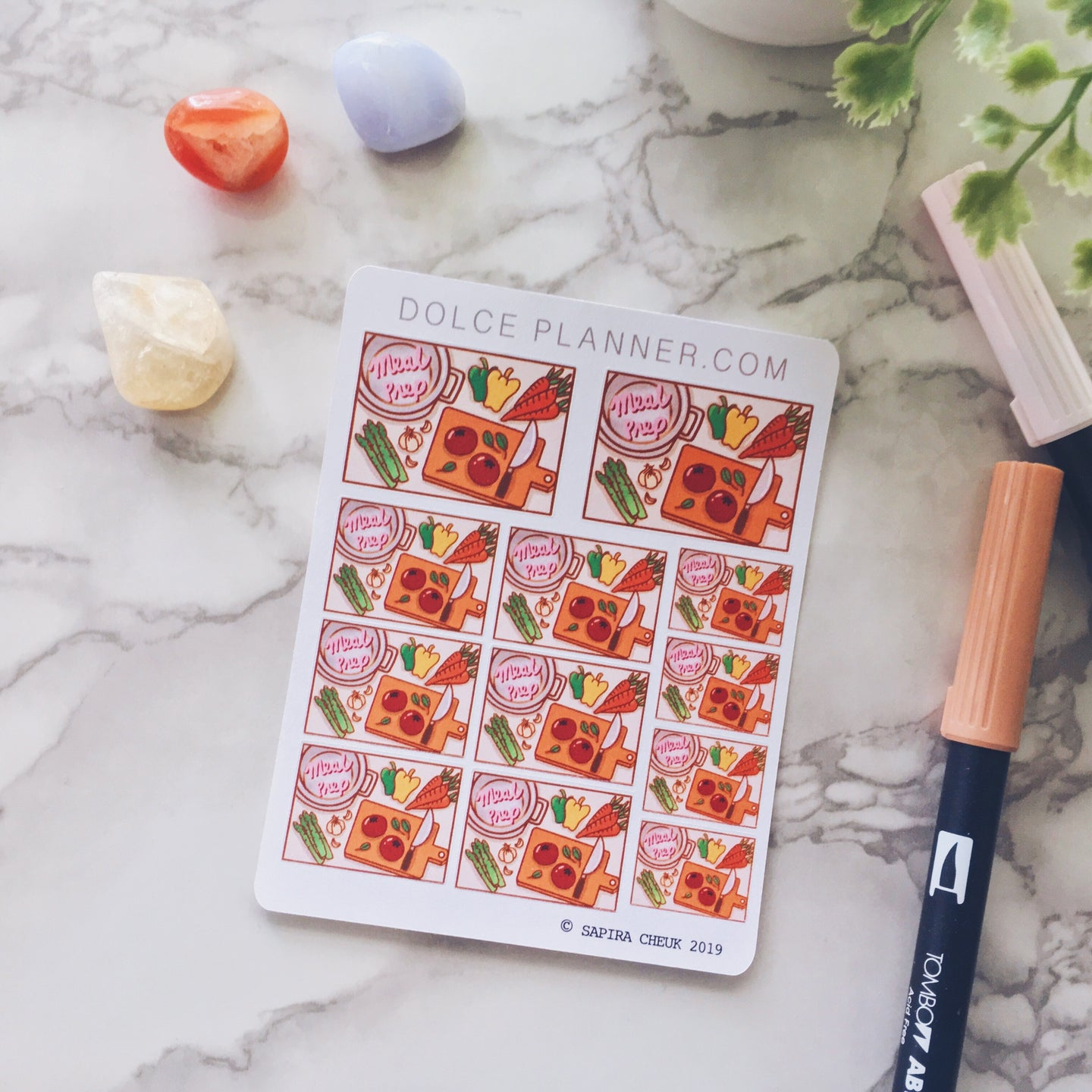 Meal Prep, Cooking Flat Lay Planner Sticker