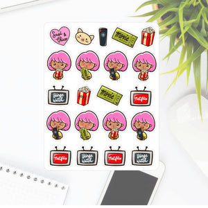 TV & Movies binge watch Sapi Planner Sticker