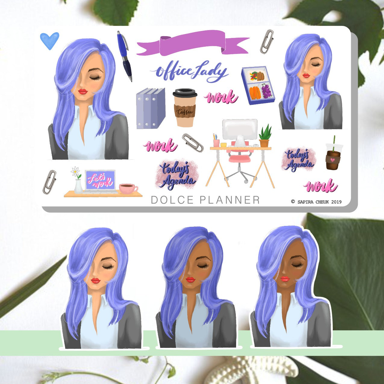 Office Lady Planner Sticker