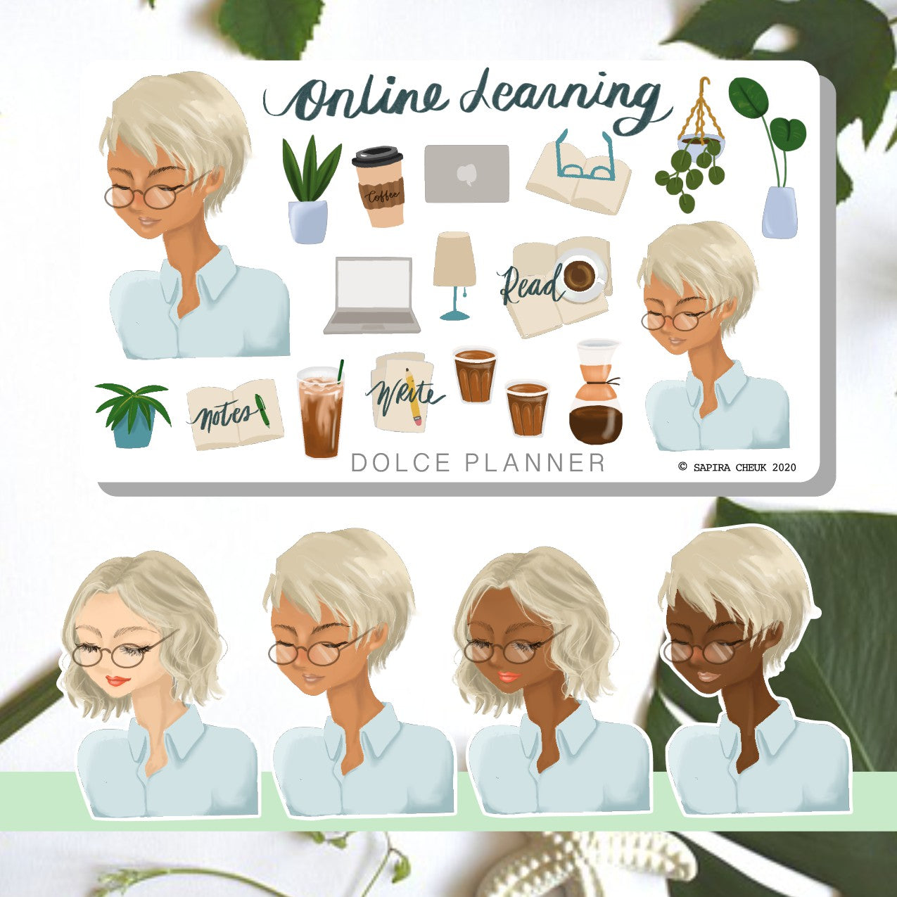 Online Learning, School, Teaching, Planner Stickers