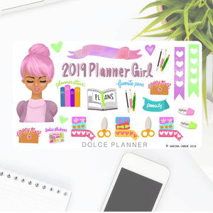 2019 Planner Girl Sticker