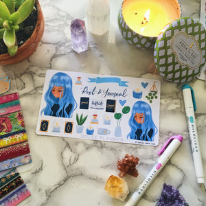 Rest and Journal, Self Care Planner Sticker and Mini Kits