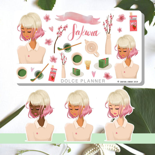 Sakura Cherry Blossom Planner Sticker and Mini Kits
