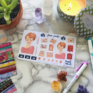 Snail Mail, Pen Pals, Letter Writing Planner Sticker and Mini Kits