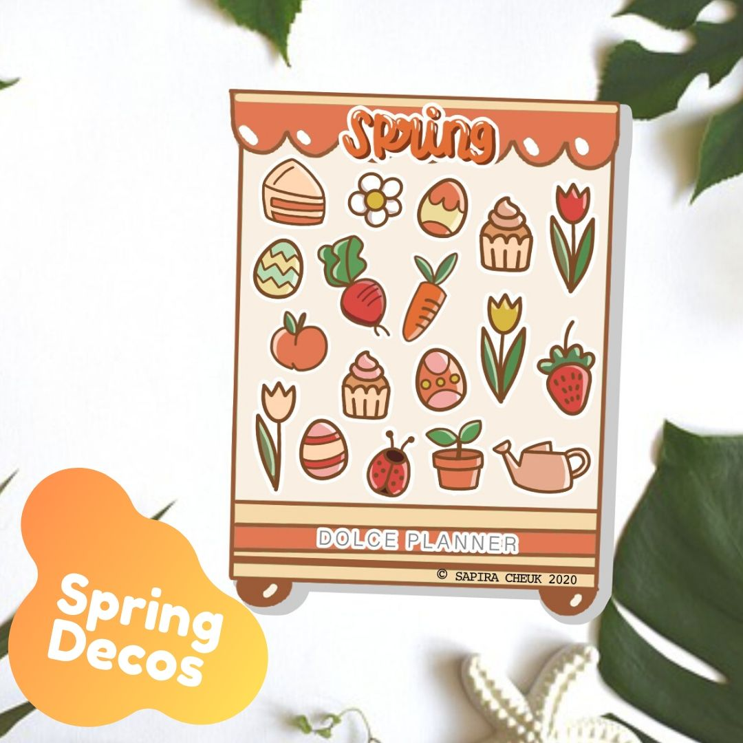 Spring Deco Shop Planner Sticker