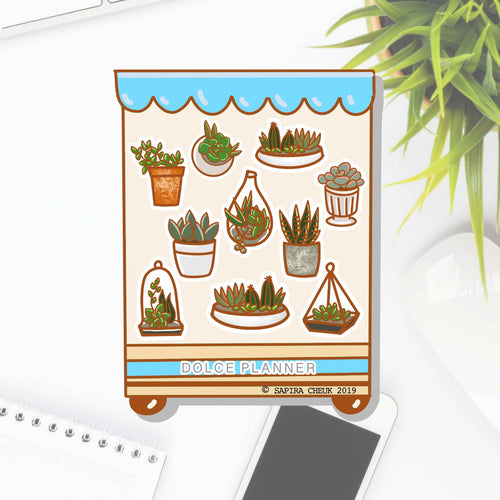 Succulent Garden Shop Planner Sticker