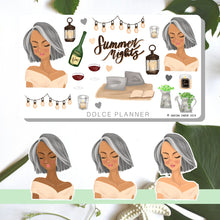 Summer Night, Evening, Patio Planner Sticker and Mini Kits