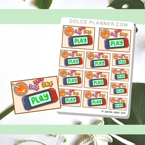 Switch Flat Lay Planner Sticker