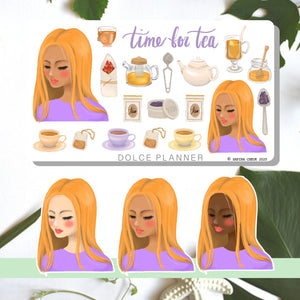 Time for Tea, Tea Time, Tea Party Planner Sticker and Mini Kits