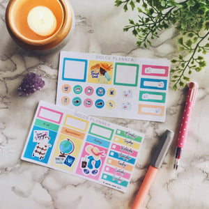 Travel, Traveling, Vacation Planner Sticker and Mini Kits