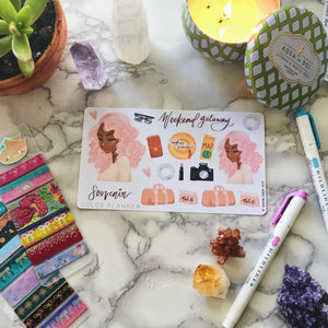 Weekend Getaway, Vacation, Traveling Planner Sticker and Mini Kits