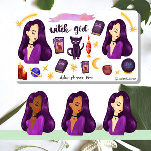 Witch, Halloween, Planner Sticker
