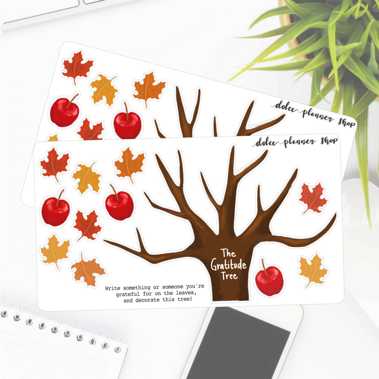 Gratitude Tree Sticker